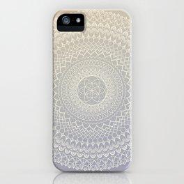 Lavender Cream Mandala iPhone Case