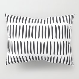 Classy Handpainted Stripes Pattern, Scandinavian Design Pillow Sham