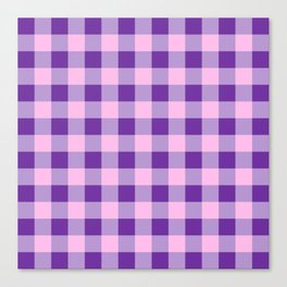 Purple and Pink Check Canvas Print