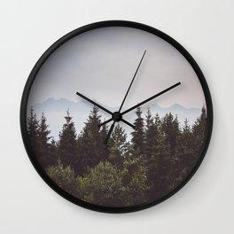 Mountain Range - Landscape Photography Wall Clock