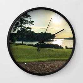 Sunset View from the Course Wall Clock