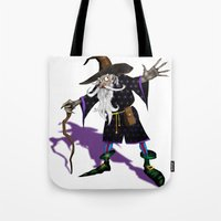 wizard Tote Bags featuring Wizard by Noughton
