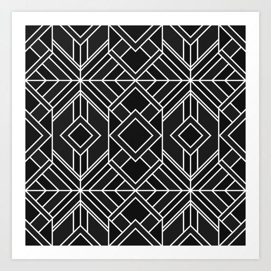 Geo Black Art Print