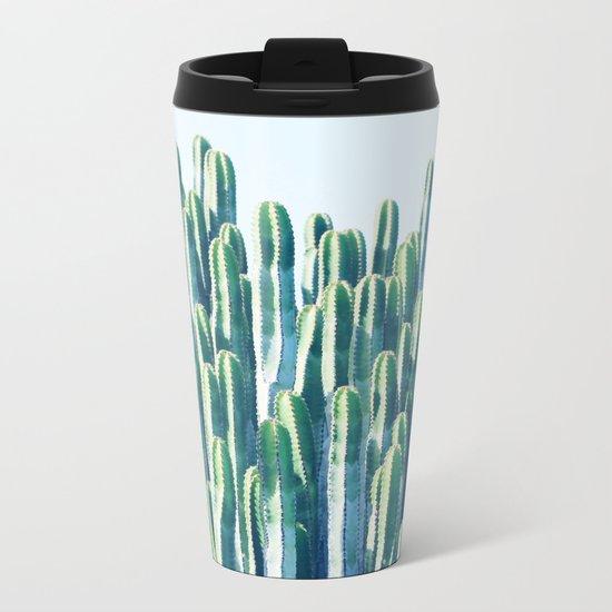 Cactus V2 #society6 #decor #fashion #tech #designerwear Metal Travel Mug