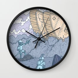 The Trench Blue Wall Clock