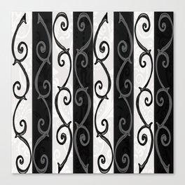 Burtonesque Stripes and Swirls.. Canvas Print