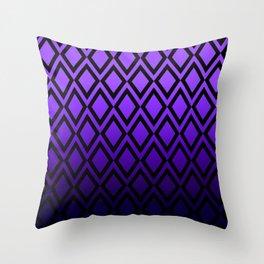 Purple Black Dipped Diamonds Throw Pillow