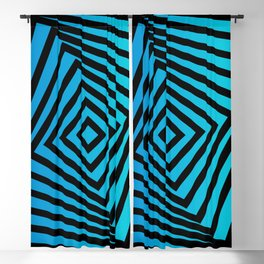 Squares twirling from the Center. Optical Illusion of Perspective bu Squares twirling Blackout Curtain