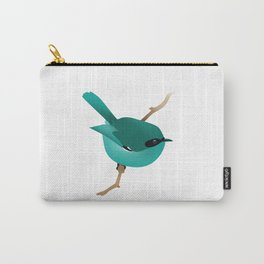 Little Blue Bird Carry-All Pouch