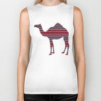 camel Biker Tanks featuring Camel by Ain Clothing