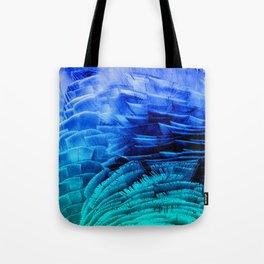 RUFFLED BLUE Tote Bag