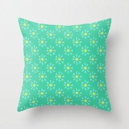Colorful Snowflakes Throw Pillow