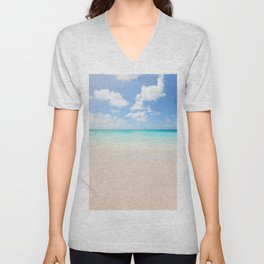 Beach vacation background Unisex V-Neck