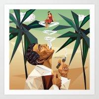 cuba Art Prints featuring cuba by DesignGeo