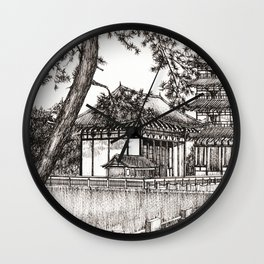 Japan Temple Wall Clock