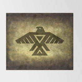Symbol of the Anishinaabe, Ojibwe (Chippewa) on  parchment Throw Blanket