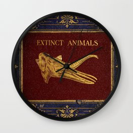 1800's Book Covers on Extinct Animals Wall Clock
