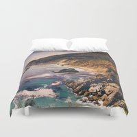 big sur Duvet Covers featuring Big Sur Pacific Coast Highway by Bethany Young Photography