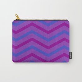 Grape Stripe Chevrons Carry-All Pouch