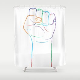 One Race: Human Shower Curtain