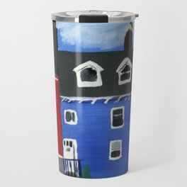 Newfoundland Houses Canada acrylics on canvas Travel Mug