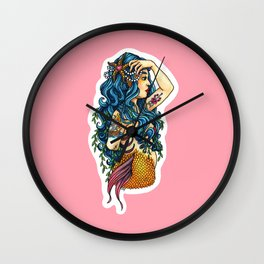 Mermaid Nerissa Wall Clock