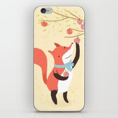 Fox apple picking iPhone & iPod Skin