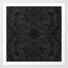 Black and white psychedelic pattern Art Print