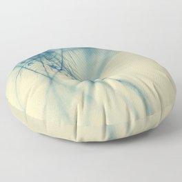 feather blue Floor Pillow