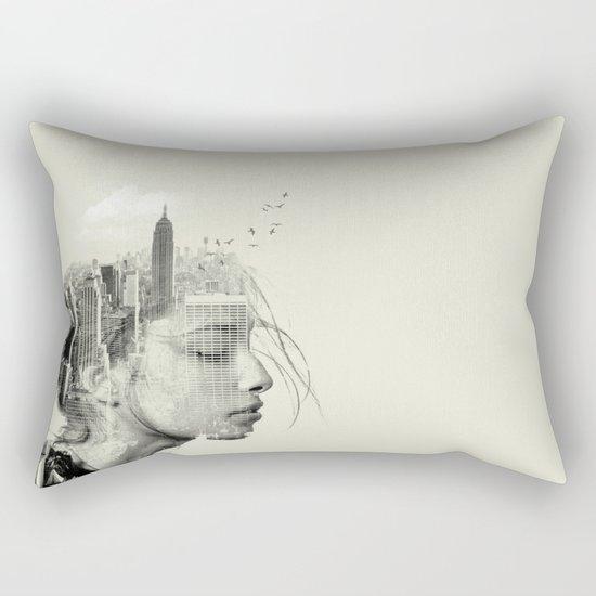 Reflection, New York City Rectangular Pillow