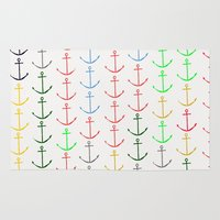 anchors Area & Throw Rugs featuring Anchors by Maressa Andrioli