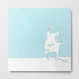 The rabbit with patches Metal Print