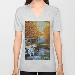 Living in a Van Down by the River Unisex V-Neck