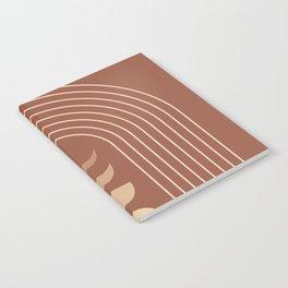 Mid Century Modern Geometric 10 (Moon phases) Notebook