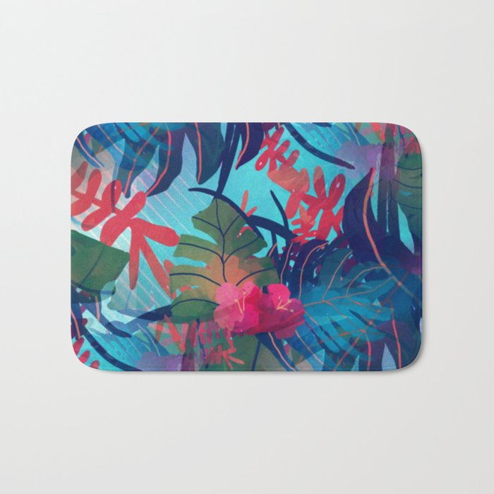 Tropical Blues Bath Mat