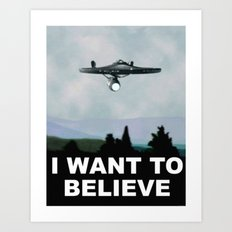Enterprise - I Want to Believe Art Print