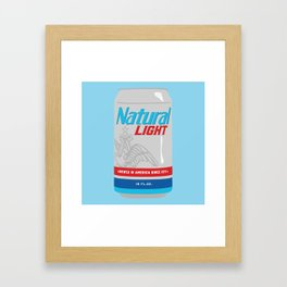 Natty Light Framed Art Print