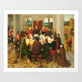 The Last Supper - 15th Century Painting Art Print