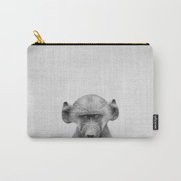 Baby Baboon - Black & White Carry-All Pouch