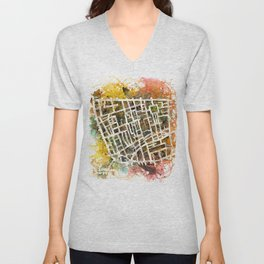 Soho London Map Unisex V-Neck