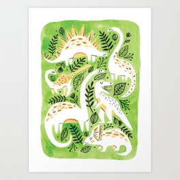 Dinosaur Forest Art Print