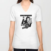resident evil V-neck T-shirts featuring Milla Jovovich Resident Evil Afterlife by f3mal3s