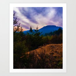 Sunset at Comox Lake Art Print