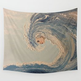 Ocean wave woman Serene Force nature  Wall Tapestry