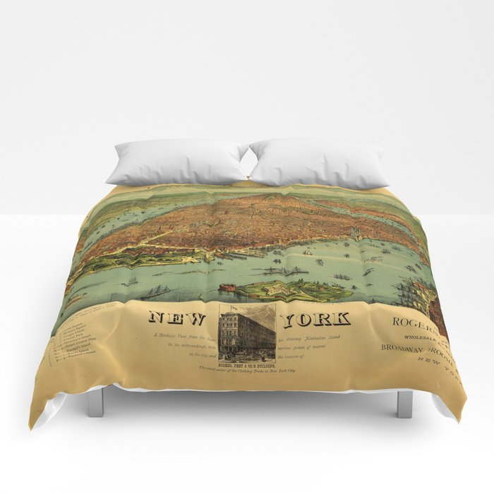 New York by Currier & Ives (1879) Comforters