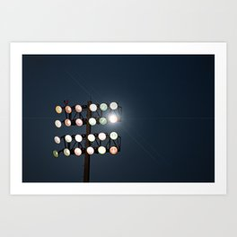 Beneath Friday Night Lights Art Print