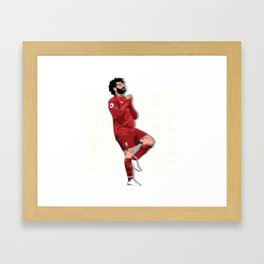 "The Egyptian King ""Mo Salah"" Framed Art Print"