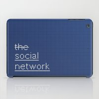 garfield iPad Cases featuring MOVIE SCRIPT / the social network by DANIEL COULMANN