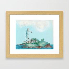 Dreaming of the Island Framed Art Print