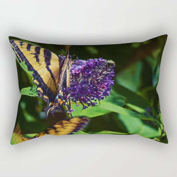 Swallowtails in the Bush Rectangular Pillow